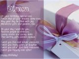 Happy Birthday Diana Quotes Birthday Poems for Diana