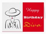 Happy Birthday Diva Cards Happy Birthday Diva Card Zazzle
