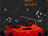 Happy Birthday Dj Card Happy Birthday Card Stock Vector Illustration Of