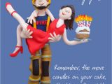 Happy Birthday Fireman Quotes Firemans Lift Happy Birthday Card One Lump or Two Cards