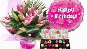 Happy Birthday Flowers and Chocolates Happy Birthday Flowers Balloons Candy Happy Birthday