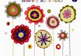 Happy Birthday Flowers Clipart Happy Birthday Flower Clipart Clipart Suggest