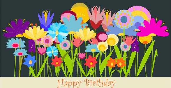 Happy Birthday Flowers Clipart the Collection Of Lovely and Great Birthday Wishes for