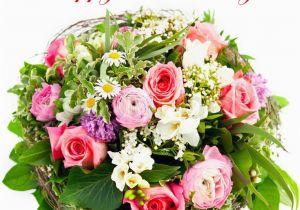 Happy Birthday Flowers for Him Happy Birthday Fresh Flowers Stock Photo Colourbox