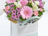 Happy Birthday Flowers In Box Pink Gift Bag Cooks the Florist