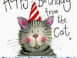 Happy Birthday From the Cat Card Happy Birthday From the Cat Birthday Card Cat themed