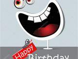 Happy Birthday Funny Video Card Gelukkige Verjaardag Grappige Kaart Glimlach Wit