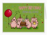 Happy Birthday Funny Video Card Happy Birthday From All Of Us Funny Birthday Card