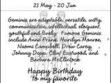 Happy Birthday Gemini Quotes Gemini Birthday Quotes Quotesgram