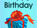 Happy Birthday Gifts for Him Blue Birthday Gift Box Card Birthday Greeting Cards by