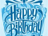Happy Birthday Gifts for Him Blue Gift Box Happy Birthday Card Birthday Greeting