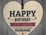 Happy Birthday Gifts for Husband Happy Birthday Husband Wife Hubby Partner Wooden Heart