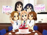 Happy Birthday Girl Animation Fanart Happy Birthday Mugi K On Anime