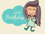 Happy Birthday Girl Pic Cute Happy Birthday Cartoon Greetings Card Postcard