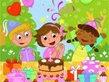 Happy Birthday Girl Pic Happy Birthday Girl Stock Vector Illustration Of
