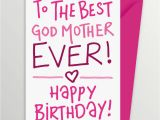 Happy Birthday Godmother Cards Birthday Card for Godmother by A is for Alphabet