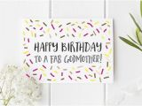 Happy Birthday Godmother Cards Birthday Card Godmother Birthday Card for Godmother Happy