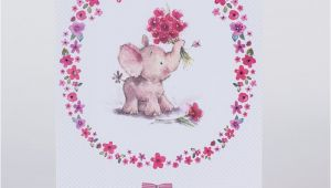 Happy Birthday Godmother Cards Birthday Card Godmother Elephant Only 59p