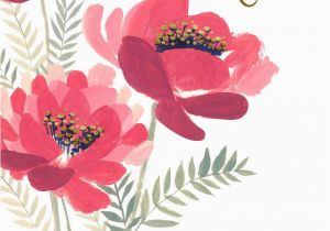 Happy Birthday Godmother Cards Vase Of Pink Flowers Card For