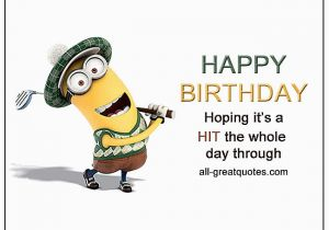 Happy Birthday Golf Quotes Hoping It S A Hit the whole Day Through Golf Birthday Card