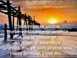 Happy Birthday Grandpa Quotes Poems Birthday Wishes for Grandpa Birthday Messages for