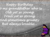 Happy Birthday Grandpa Quotes Poems Funny Grandpa and Grandson Quotes Quotesgram