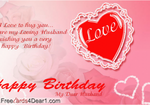Happy Birthday Greeting Card For My Husband Ecard Cards