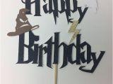 Happy Birthday Harry Potter Quotes Harry Potter Happy Birthday Cake topper Lightning Bolt