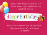 Happy Birthday In Advance Quotes 80 Happy Birthday In Advance Wishes Best Quotes to Say