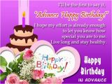 Happy Birthday In Advance Quotes Advance Birthday Wishes for Friends and Family Happy