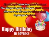 Happy Birthday In Advance Quotes Advance Happy Birthday Wishes and Images Birthdayfunnymeme