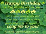 Happy Birthday Irish Quotes An Irish Birthday Wish Happy Birthday event
