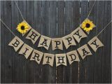 Happy Birthday Jennifer Banner Customizable Sunflower Banner Bridal Shower Wedding