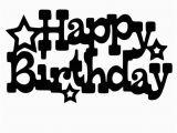 Happy Birthday Jennifer Banner Free Svg File Happy Birthday with Stars Jennifer