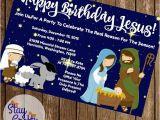 Happy Birthday Jesus Party Invitations Happy Birthday Jesus Christmas Party Invitation 4×6