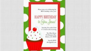 Happy Birthday Jesus Party Invitations Happy Birthday Jesus or Christmas Birthday Invitation by