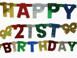 Happy Birthday Jointed Banner Banner Jointed Letter Happy 21st Birthday