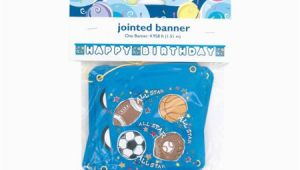 Happy Birthday Jointed Banner Happy Birthday Sports Jointed Banner Walmart Com