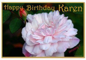 Happy Birthday Karen Banner Happy Birthday Karen Trixietx