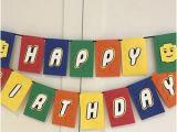Happy Birthday Lego Banner Printable Lego Happy Birthday Etsy