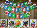 Happy Birthday Lego Banner Printable Lego Justice League Inspired Birthday Banner Instbirthday