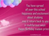 Happy Birthday Ma Am Quotes Birthday Wishes for Principal Ma 39 Am Cards Wishes
