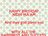 Happy Birthday Ma Am Quotes May God Bless Me Quotes Quotesgram