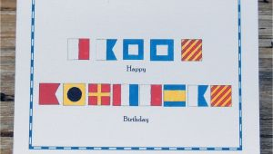 Happy Birthday Marine Cards Nautical Flag Marine Alphabet Code Happy Birthday Card Set Of