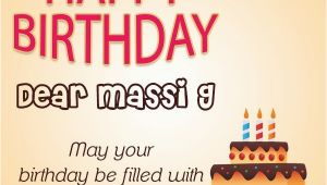 Happy Birthday Mausi Quotes Happy Birthday Masi Wishes Cake Images Sms Wishes