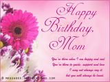 Happy Birthday Mom Card Messages Birthday Wishes for Mother Messages Greetings and Wishes
