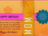 Happy Birthday Mom Card Sayings Happy Birthday Mom Quotes for Facebook Quotesgram