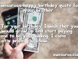 Happy Birthday Money Quotes 317 Best Happy Birthday Brother Status Quotes Wishes