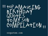 Happy Birthday Mother Quotes From son Birthday Quotes for son Quotesgram