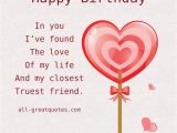 Happy Birthday My Love Quotes for Him I Found the Love Of My Life Quotes Quotesgram